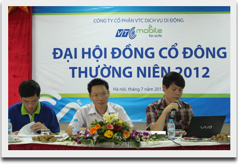 Dai hoi dong co dong thuong nien 2012 VTC Mobile